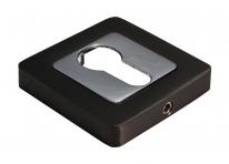 Накладки на цилиндр Morelli MH-KH-S55 GR-PC графит/полированный хром