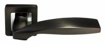 Ручка дверная на квадратной розетке Morelli DIY MH-45 GR-CP-S55 графит/полированный хром