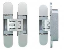 KUBICA 6400 DXSX, CR.SAT петля скрытая универсальная самоцентрующаяся Матовый хром (45 kg)