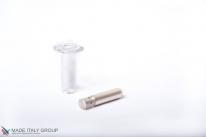 Ограничитель дверной напольный магнитный автоматический скрытый Fantom Premium HGT001 прозрачный