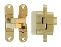 Петля дверная скрытая Koblenz Kubica 6900 DX, Gold, левая 22/33 кг