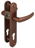 Ручка дверная на планке под цилиндр Gardian (Гардиан) 4132 Вега (медный антик) /124:1:54(2474)/