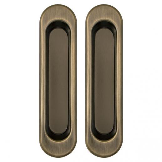 Ручка для раздвижной двери комплект Punto Soft LINE SL-010 AB Бронза античная