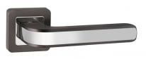 Ручка дверная на квадратной розетке Punto Nova QR GR/CP-23 графит/хром