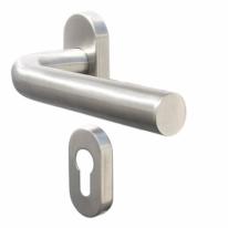 Ручка дверная противопожарная Doorlock DL 040UR/F PZ Rt L-form