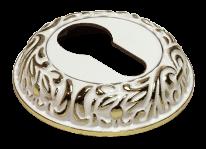 Накладка на цилиндр Morelli MH-KH-CLP W/PG белый/золото