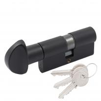 Цилиндровый механизм Cortellezzi Primo 117F 30x30 ключ/поворот. черный