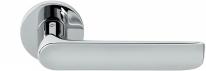 Дверная ручка на круглой розетке COLOMBO Lund SE11RSB-CR полированный хром