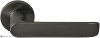 Дверная ручка на круглой розетке COLOMBO Lund SE11RSB-GM матовый графит