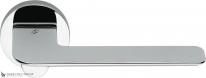 Дверная ручка на круглой розетке COLOMBO Slim FF11RSB-CR полированный хром