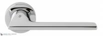 Дверная ручка на круглой розетке COLOMBO Alato JP11RSB-CR полированный хром