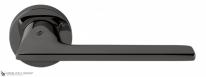 Дверная ручка на круглой розетке COLOMBO Alato JP11RSB-GL графит