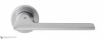 Дверная ручка на круглой розетке COLOMBO Alato JP11RSB-CM матовый хром