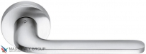 Дверная ручка на круглой розетке COLOMBO Roboquattro ID41RSB-CM матовый хром