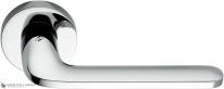 Дверная ручка на круглой розетке COLOMBO Roboquattro ID41RSB-CR полированный хром