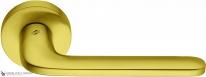 Дверная ручка на круглой розетке COLOMBO Roboquattro ID41RSB-OM матовое золото