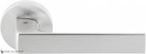Дверная ручка на круглой розетке COLOMBO Robocinque ID61RSB-CM матовый хром