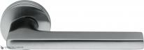 Дверная ручка на круглой розетке COLOMBO Gira JM11R-CM матовый хром