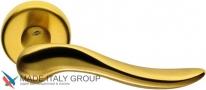 Дверная ручка на круглой розетке COLOMBO Peter ID11RSB-OM матовое золото