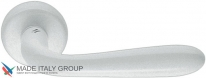 Дверная ручка на круглой розетке COLOMBO Robot CD41RGSB-BI Матовый белый