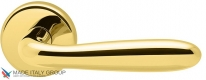 Дверная ручка на круглой розетке COLOMBO Robot CD41RGSB-OL полированная латунь