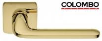 Дверная ручка на квадратной розетке COLOMBO Roboquattro S ID51RSB-OL полированная латунь