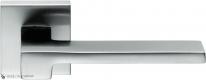 Дверная ручка на квадратной розетке COLOMBO Zelda MM11RSB-CM матовый хром
