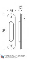 Ручка для раздвижной двери COLOMBO ID411-CM матовый хром (1шт.)
