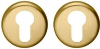 Накладка под цилиндр на круглом основании COLOMBO CD63G-OM матовое золото