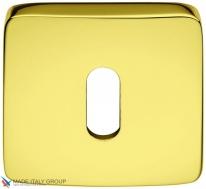 Накладка под ключ буратино на квадратном основании COLOMBO PT13BB-OL полированная латунь