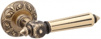 Дверная ручка на круглой розетке Pasini 2831 PATRIZIO QUEEN OGV бронза