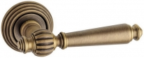 Дверная ручка на круглой розетке FIMET 106/269 MICHELLE сатин.бронза F43