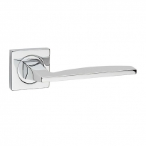 Дверная ручка на квадратной розетке FIMET 190/211BIC WAVE полированный хром F04