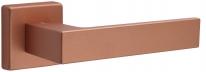 Дверная ручка на квадратной розетке FIMET 1317/215 KUBO медь F13