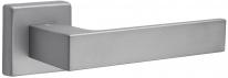 Дверная ручка на квадратной розетке FIMET 1317/215 KUBO матовый никель F54