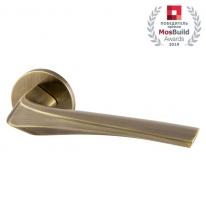 Ручка дверная на круглой розетке Armadillo FLAME URS AB-7 Бронза