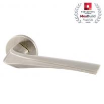Ручка дверная на круглой розетке Armadillo FLAME URS SN-3 Матовый никель