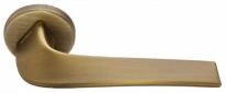 Дверная ручка на круглой розетке Morelli Luxury Cometa CAFFE - кофе