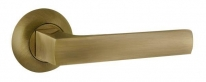 Ручка на круглой розетке Ajax ERGO JR ABG-6 зелёная бронза