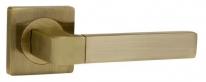 Ручка на квадратной розетке Ajax FUSION JK ABG-6 зелёная бронза