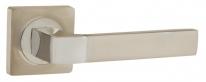 Ручка на квадратной розетке Ajax FUSION JK SN/CP-3 матовый никель/хром