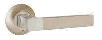 Ручка на круглой розетке Ajax FUSION JR SN/CP-3 матовый никель/хром