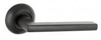 Ручка дверная на круглой розетке Punto AXIS ZR BL-24 чёрный