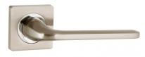 Ручка дверная на квадратной розетке Punto DROID ZQ SN/CP-3 матовый никель/хром