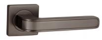 Ручка дверная на квадратной розетке Punto FUTURA ZQ GR/BN-23 графит/чёрный никель