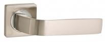 Ручка дверная на квадратной розетке Punto INTEGRA ZQ SN/CP-3 матовый никель/хром