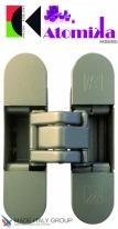 KUBICA K8060 ATOMIKA SLIM DXSX, NS петля скрытая универсальная Матовый никель (60 kg)