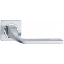 Ручка дверная на квадратной розетке Vantage V12L SC матовый хром