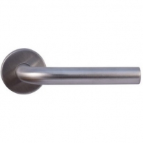 Ручка дверная на круглой розетке Vantage V0191INOX нержавеющая сталь