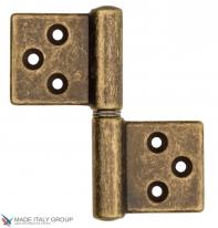 Петля накладная без врезки ALDEGHI 32x35 античная бронза права ALD183